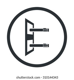 vector illustration of computer technology modern icon