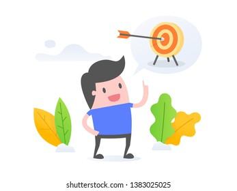 Goal Setting Cartoon Images, Stock Photos & Vectors