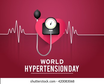 Vector illustration concept of world hypertension day.