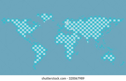 Vector illustration of a conceptual background with world map.