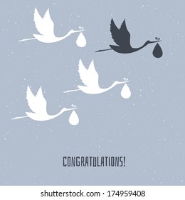 Vector illustration of Congratulation for you