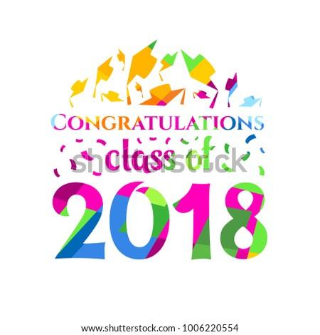 vector illustration congratulations on graduation class のベクター