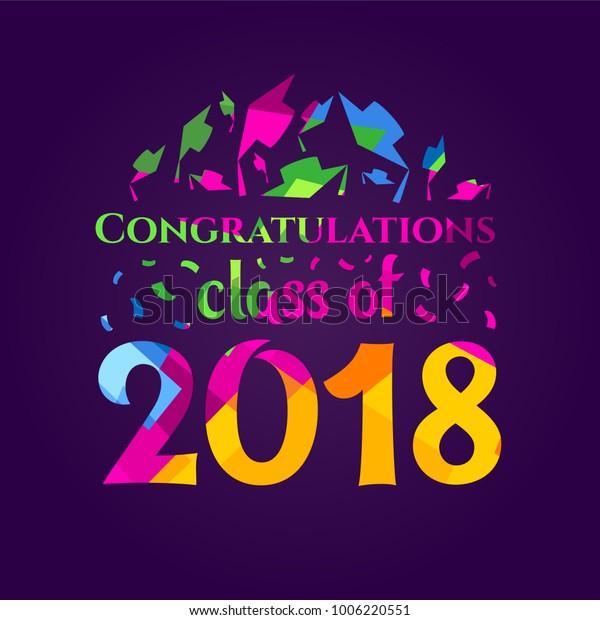Vector Illustration Congratulations On Graduation Class