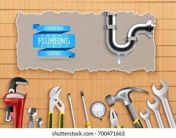 Vector illustration of Construction repair tools set