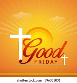 Vector illustration of contains cross for Good Friday.