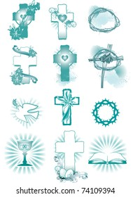 vector illustration contains the image of Easter Symbols