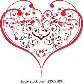 The vector illustration contains the image of valentines background