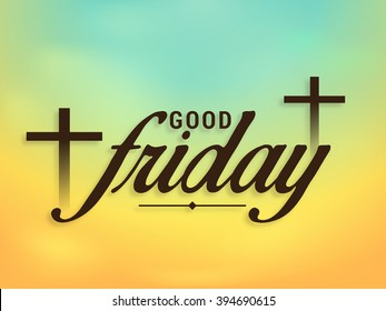 Vector illustration of contains three cross for Good Friday.