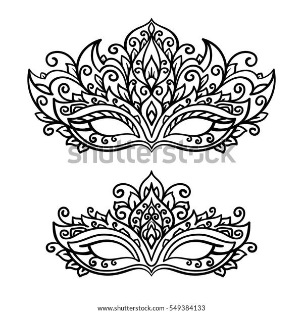 Mardi Gras Masks Coloring Page Drawing And Coloring - Farsangi ...   620x600