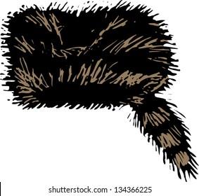 Vector illustration of Coonskin Cap 0cf5ac825ef5