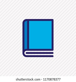 Vector illustration of copybook icon colored line. Beautiful education element also can be used as dictionary icon element.