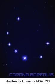 Corona Borealis Constellation Images Stock Photos Vectors Shutterstock