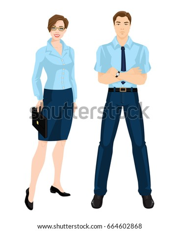 Vector Illustration Corporate Dress Code Group Stock Vector Royalty