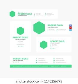Vector Illustration Of Corporate Email Signature Design