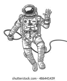 Vector illustration cosmonaut,