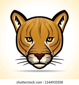 Vector illustration of cougar head graphic design