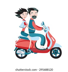 Couple Motorcycle Riding Young Images, Stock Photos