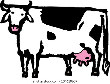 Vector illustration of a cow