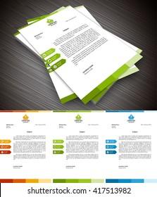 Vector illustration of creative letterhead template.