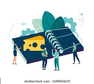 Vector illustration, creative metaphor on the theme of money traps, a trap as a symbol of financial illiteracy of people and the pursuit of easy money, free cheese only mousetrap metaphor