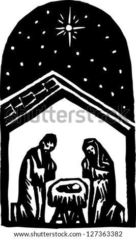 Vector illustration of creche