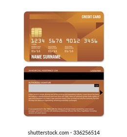 Vector Illustration Of  Credit Card : Leaf Collections