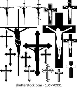 vector illustration of crucifix