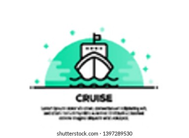 VECTOR ILLUSTRATION OF CRUISE ICON CONCEPT
