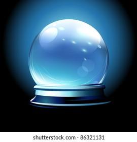 Vector illustration of Crystal ball (fortune teller's ball)