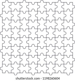 Vector illustration of cut template to prepare puzzle. Puzzle, wallpaper, web background, background, tile, fabric and textile.