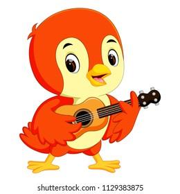 vector illustration of Cute bird cartoon