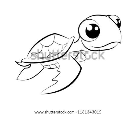 Line Drawings Of Cartoon Baby Turtles Wiring Diagrams