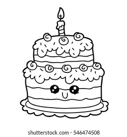 vector illustration cute cartoon birthday 260nw