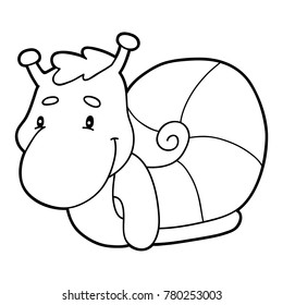 Snail Coloring Pages Images, Stock Photos & Vectors | Shutterstock