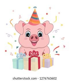 Royalty Free Stock Illustration Of Cartoon Lion Character Birthday