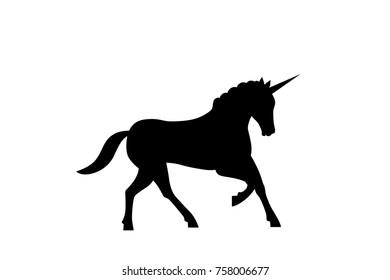 Vector illustration with cute cartoon unicorn