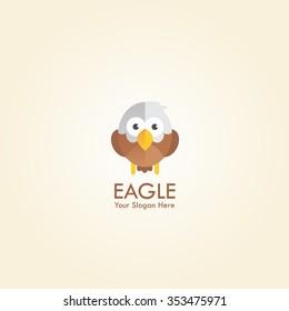 Vector Illustration of Cute Eagle Cartoon