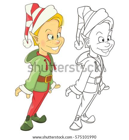 Vector Illustration Cute Elf Cartoon Character Stock Vector Royalty
