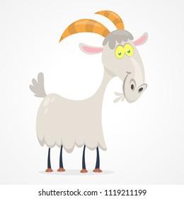 Vector illustration of cute goat cartoon