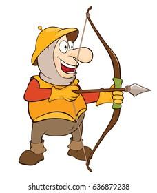 Vector Illustration of a Cute Knight . Cartoon Character