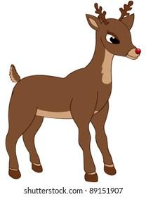 Vector illustration of a cute reindeer
