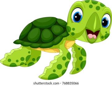 Baby Sea Turtle Cartoon Images Stock Photos Vectors Shutterstock