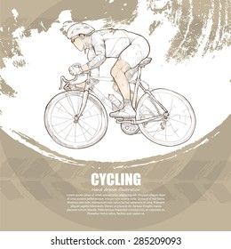 Vector illustration of Cycling