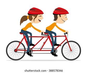 Vector illustration. Cycling.