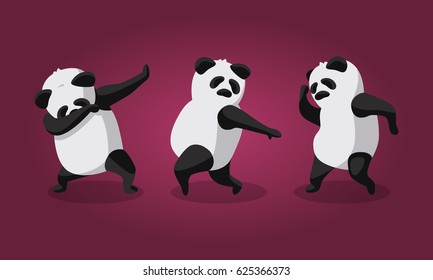 Vector illustration - Dancing Panda