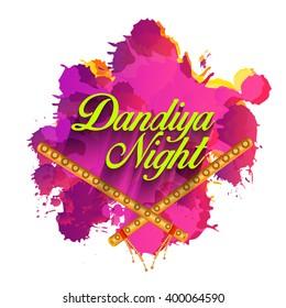 Vector illustration of dandiya night for navratri celebration.