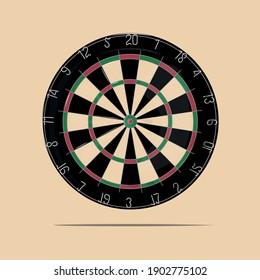 Vector illustration of a dartboard