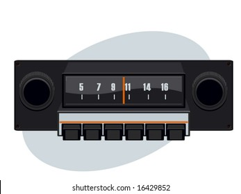 vector illustration of a dashboard radio