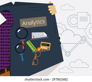 Vector Illustration of Data Specialist