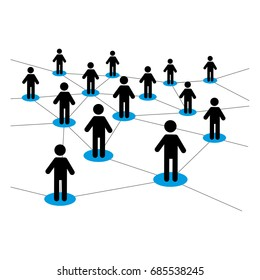 Vector illustration of dealers network scheme